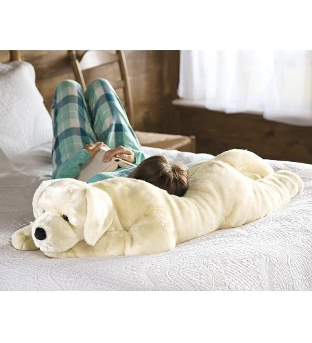 Super Soft Labrador Body Pillow with Realistic Features, in Yellow