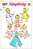 Simplicity 6817 Vintage Sewing Pattern Betsy Wetsy Ginny Dolls Wardrobe
