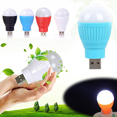 1Pc Portable USB LED Light Lamp Bulb Computer Peripheral Gadget For Laptop (Dichroic Round Bead)