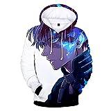 Boku No Hero Academia Hoodie 3D Printed Hooded Pullover Sweatshirt (Medium, Color 1)