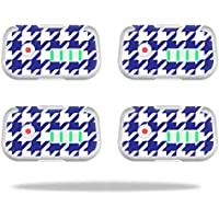 Skin For DJI Phantom 3 Drone Battery (4 pack) – Blue Houndstooth | MightySkins Protective, Durable, and Unique Vinyl Decal wrap cover | Easy To Apply, Remove, and Change Styles | Made in the USA