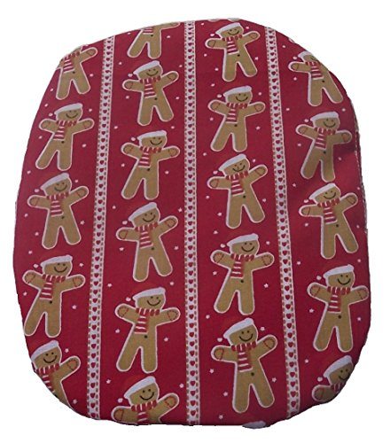 Stripes Gingerbread - Simple Stoma Cover Ostomy Bag Cover Christmas Gingerbread Stripe Red