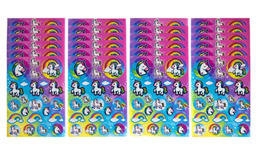 - 24 Unicorn Sticker Sheets - Over 500 Unicorn Stickers Per Set - Great Addition To Kids Unicorn Themed Birthday Party Prizes, Favors & Decorations - Perfect For A Party Or Classroom Activity