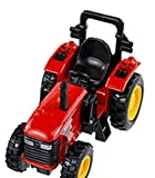 Pull Back and Go - 4 Inch Power Tractor - (Red)