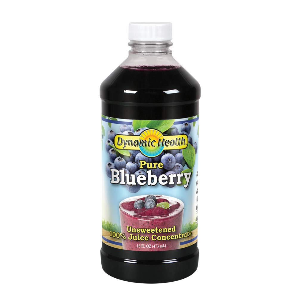 Amazon Com Dynamic Health 473ml 100 Percent Pure Blueberry Juice