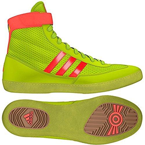Adidas combattimento Velocità 4 Wrestling Scarpe gioventù Bahia Blu / calce Size 1.5 Solar Yellow/Solar Red