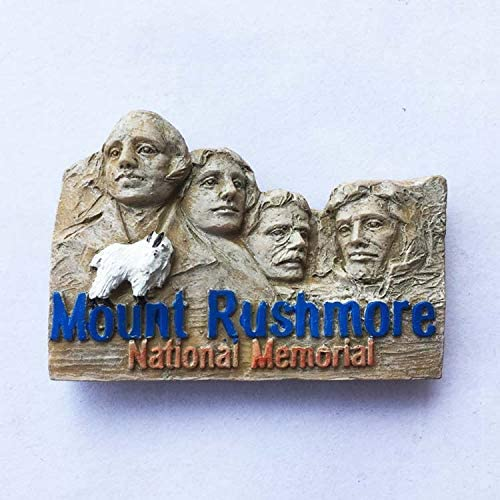 UU. Decoraciones para el hogar. EE Dakota del Sur Monte Rushmore National Memorial Park Presidential Mountain Tourist Souvenirs 3D Resin Fridge Magnetic Sticker DIY Travel Conmemorative Collection