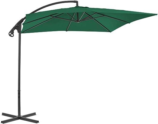 Festnight- Sombrilla de Jardin Sombrillas Terraza Parasol para el Jardín 250 x 250 x 260 cm Verde: Amazon.es: Hogar