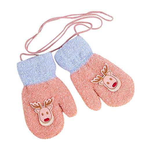 SMALLE ◕‿◕ Clearance,Toddler Baby Girls Boys Little Deer Print Winter Warm Christmas Kids Gloves