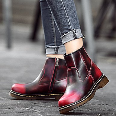 Fall Boots Outdoor Winter UK3 Bootie Leather Nappa Ankle Shoes Heel EU35 Booties For Casual RTRY US5 Boots Combat Women'S CN34 Boots Cowboy Flat Boots Western xRAq8xIpw