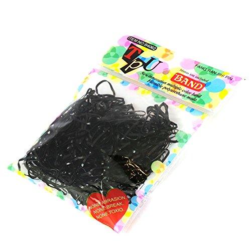 [해외]아직은 안 헤어 고무 세트 【 hairaccessory 엘 피스 】블랙 / Hair rubber set [hairaccessory lupi