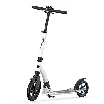 Patinete- Plegable para Adultos No Eléctricos, Ruedas Grandes De 230mm Altura Ajustable Scooter De Viaje para Niños/Niñas (Color : Blanco): Amazon.es: Hogar