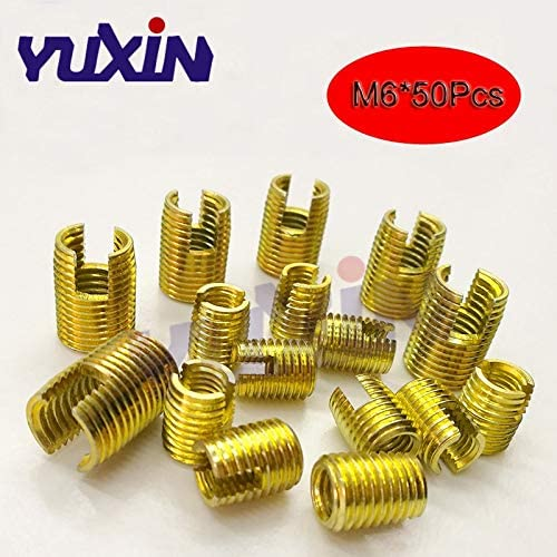 L Ochoos 20pcs M61.012 302 Slotted Type Stainless Steel Screw Bushing M6 Wire Thread Repair Insert Self Tapping Thread Insert