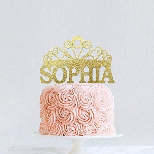 Princess Cake Topper, Personalized Tiara Cake Topper, Birthday Crown Cake Topper, First Birthday, Disney Inspired Princess Birthday Decoration