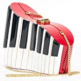 Timmy Woods Beverly Hills Red Piano Organic Wood Handbag
