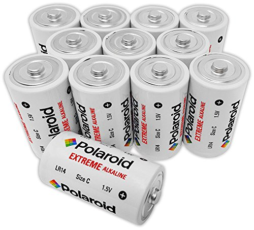 Polaroid Extreme C Cell Alkaline Batteries (12-Pack)