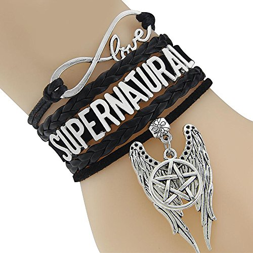 Supernatural Infinity Love Bracelet Collection (Standard, Supernatural Wings Of Castiel) - Sam And Dean Halloween Costume