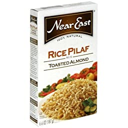 Near East Rice Pilaf Mix Toasted Almond 6.6 oz Box