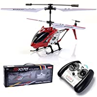 Red Syma S107G 3CH Mini Remote Control RC Helicopter GYRO