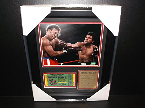- Muhammad Ali The Rumble in the jungle George Foreman 8x10 PHOTO Framed Ticket