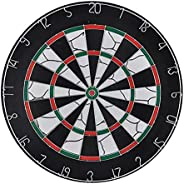 Never Landing 2 Side 18 Inch Dart Board with 6 Steel Tip Darts