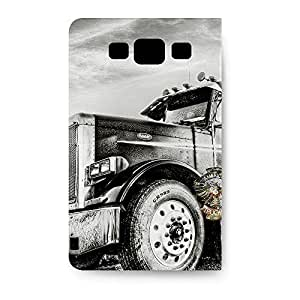 Leather Folio Phone Case For Samsung Galaxy S3 Leather Folio - American Trucker Designer Soft