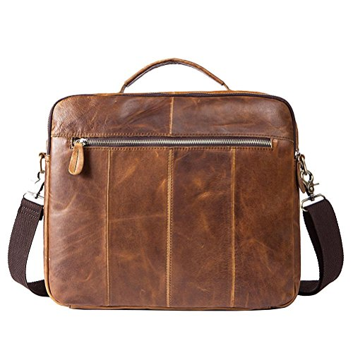 Genuine 8001 Leather Shoulder Gtuko Crossbody Handbags Business Bags Men Laptop Messenger Brown Bag Vintage Briefcase ECTOq