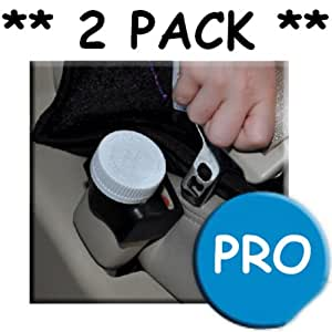 Buckle Guard PRO Seat Belt Button Cover - Black - 2 Pack