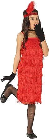 Girls 1920s Charleston Flapper Girl Red Fancy Dress Halloween Costume