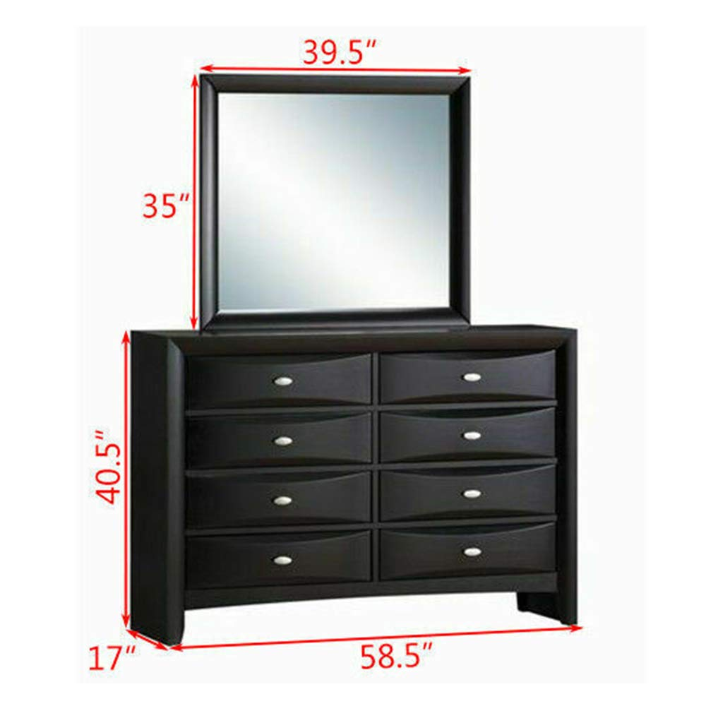 Amazon.com: Thaweesuk Shop Dresser Chest 8 Drawers Mirror ...