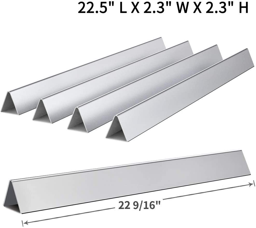 "Votenli S753F(5-Pack) Stainless Steel 7536 7537 Flavorizer Bars for Weber Genesis Silver B and C, Spirit 700 Weber 900 (22 1/2 X 2 1/4"")"