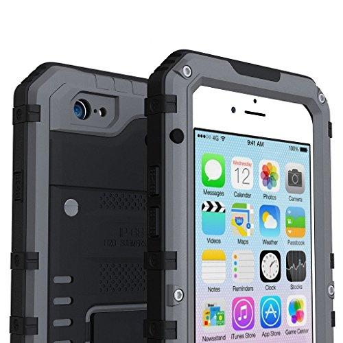 I3C iPhone 5/5S Schutzhülle Aluminium Gorilla Glas Kratzenfest Stoßfest Schmutzfester Hartcase Vollschutz Hülle Case Hartschale