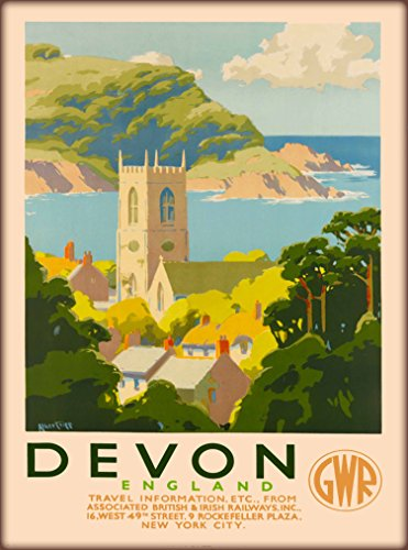 A SLICE IN TIME Devon England Great Wester Railways Great Britain United Kingdom Vintage Railroad Travel Advertisement Art Poster Print. Measures 10 x 13.5 inches ()