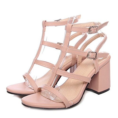 SJJH Roman Sandals with Large Size 10 UK and 3-Colors Available Fashion and Special Design Women Snadals Pink zVShzo6xG