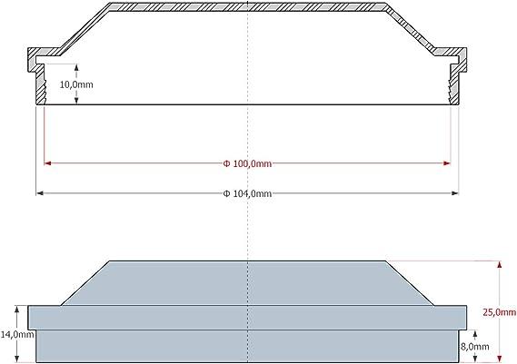 Universal Staubschutz Deckel Abdeckung Kappe Deckel Für Scheinwerfer 100mm Auto