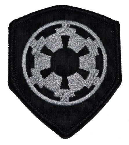 Galactic Empire Imperial Seal 3x2.5 Shield Morale Patch - Bl