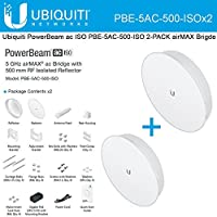 Ubiquiti Network PBE-5AC-500-ISO 5Ghz PowerBeam AC ISO 27dBi 500mm airMAX Bridge (2-PACK)