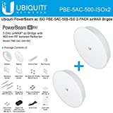 PowerBeam ac ISO PBE-5AC-500-ISO US 5GHz airMAX Bridge 27dBi with RF Isolated Reflector - Wireless Antenna