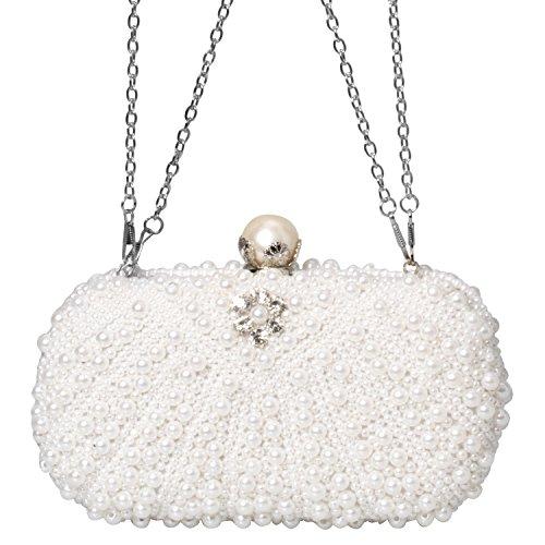 Beads Crystal Rhinestone Evening Clutch Bag Envelope Fashion Purse Women Handbags (Bead Handbag Purse)
