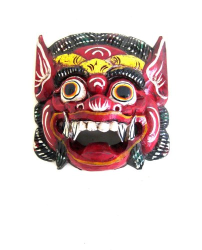 - OMA African Mask Wall Decor Hanging Barong Diety Mask Good Luck Fortune Mask FEDERAL TRADEMARK LOGO ON MASK