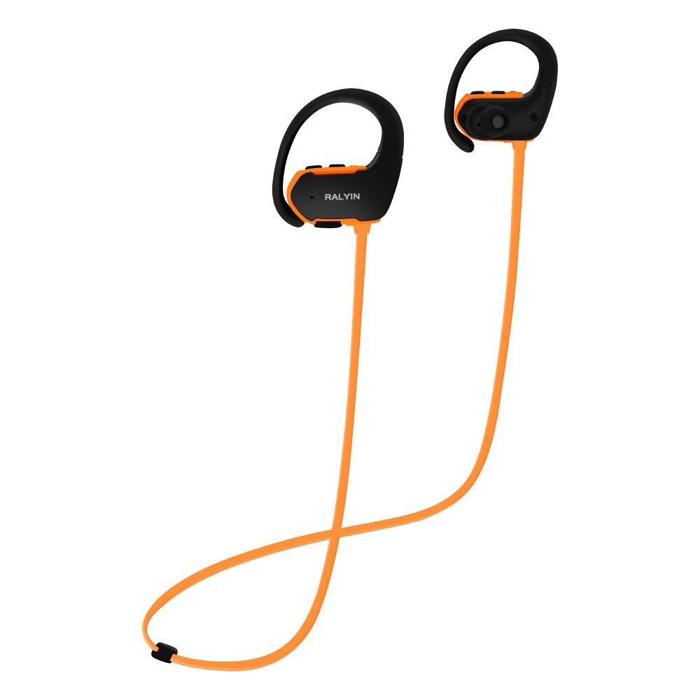 Ralyin Bluetooth Headphones MP3 Player Wireless Earbuds Sport Headset Built in 8gb Memory Micro Sd Card Storage Waterproof Earphones for Running Gym Workout Walkman (Orange)