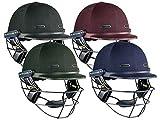 VS Test Steel Junior Cricket Helmet, Red, L by Masuri