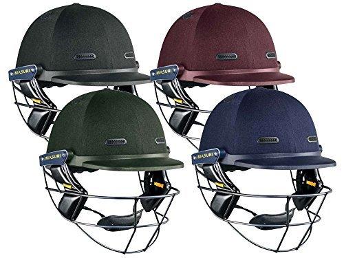 VS Test Steel Junior Cricket Helmet, Red, L by Masuri by Masuri