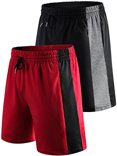 "Cadmus Men's 8"" Sport Workout Shorts with Porket"