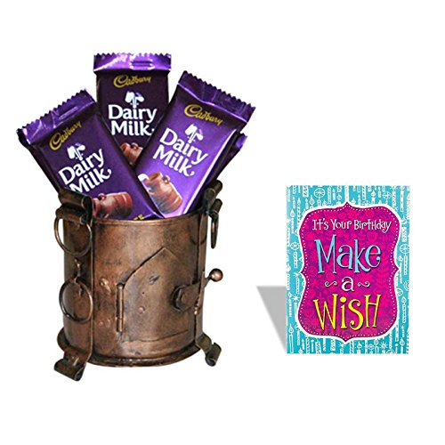 Happy Birthday Greeting Card With Dairy Milk Chocolate Gift Hamper 613 Amazonin Grocery Gourmet Foods