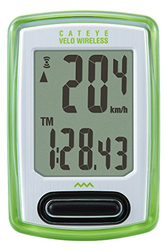 CatEye Velo Wireless Cyclocomputer, Green (Green Cycling Computer compare prices)