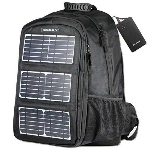 ECEEN Backpack With 10W Solar Panel Charger For Smart Devices