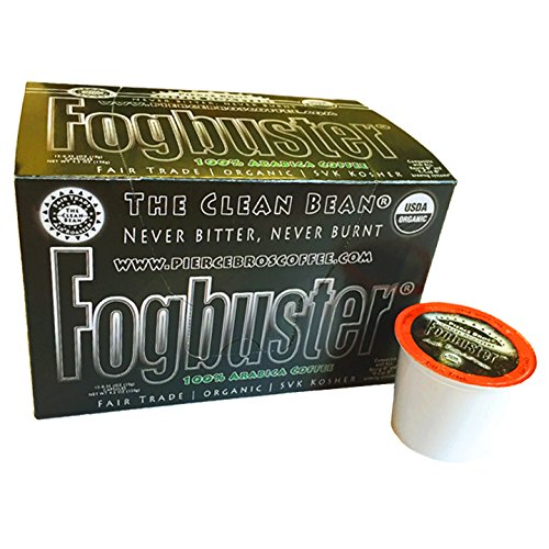 Fogbuster K-Cups | Organic, Fair Trade Certified Air Roasted Arabica Coffee 12 CT