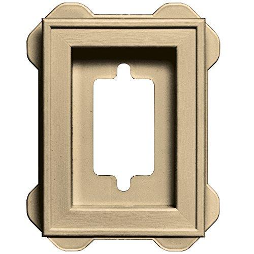 Builders Edge 130130002012 Recessed Mini Mounting Block 012, Dark Almond (012 Almond Dark)