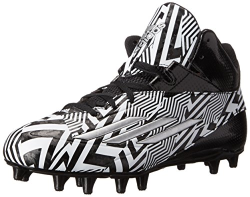 Adidas Performance Men's Filthyspeed Mid Football Cleat, Black/Platinum, 10.5 M US
